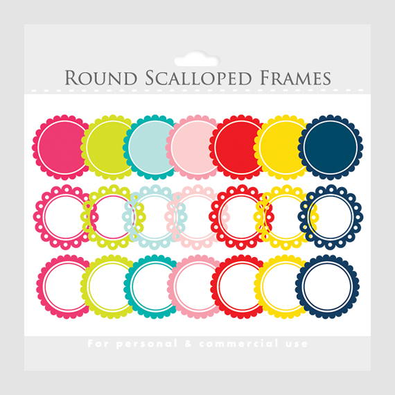 Scallop Frame Png Scalloped Frames Clipart